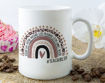 Teachers Life Rainbow Teaching Mug 11oz,15oz, Kindergarten Teacher Mug, Quarantine Teacher Mug, Teacher Gift Ideas, Teaching Mug
