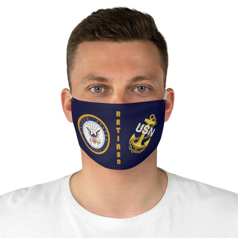 US Navy Chief Petty Officer Retired  Fabric Face Mask image 0
