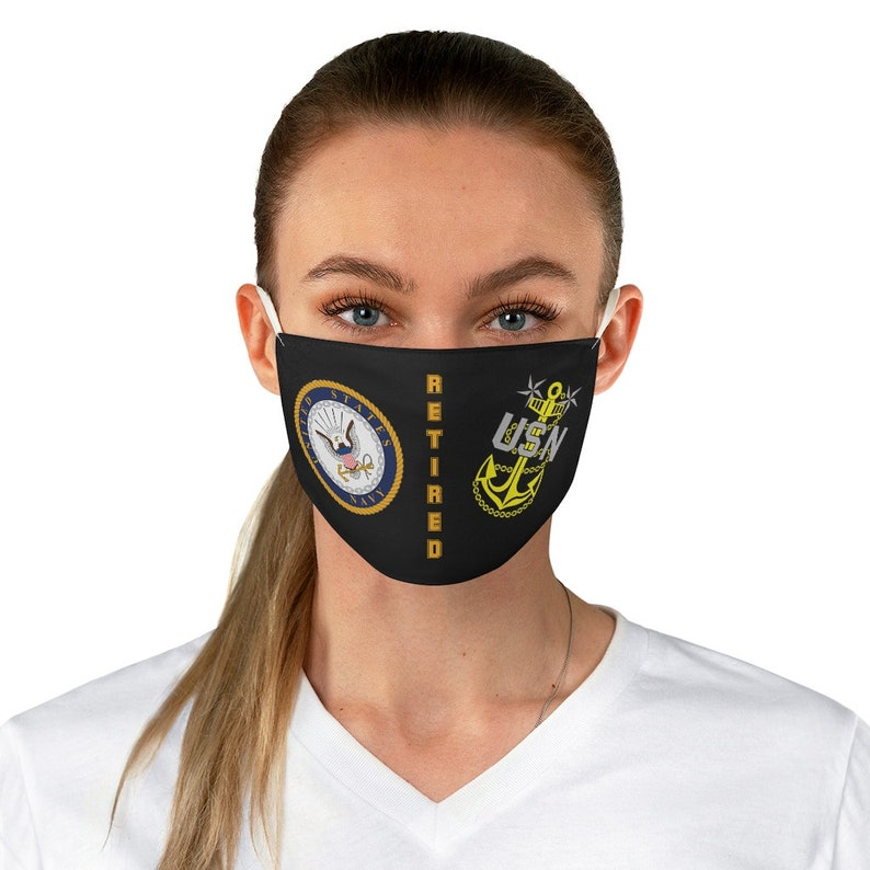 U.S. Navy Retired Master Chief Petty Officer Fabric Face Mask image 0