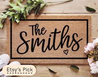 Personalized Doormat / Custom Doormat / Housewarming Gift / Family Name Doormat / Wedding Gift / Closing Realtor Gift / Monogram Rug