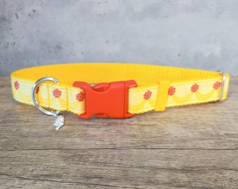 Beauty and the Beast dog collar,Belle's dress, Dog collar,Cat collar, Belle,Disney princess,Belle dog collar,Disney dog collar, Halloween