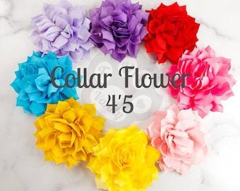 "Dog Collar flower, Collar flower, Flower for dog collar, Large collar flower 4""5 , Pet accessories"