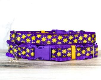 Rapunzel dog collar,Disney Tangled Dog collar, Disney Rapunzel, Tangled Sun, Rapunzel cat collar, Disney cat collar,  Halloween dog collar