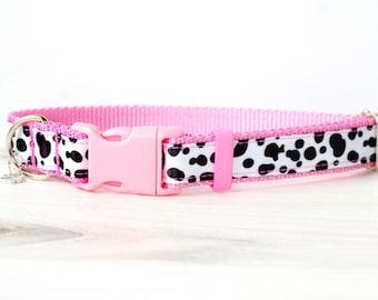 Dalmatian print dog collar , 101 Dalmatians , Dalmatian spot dog collar, Dalmatian Pattern Dog Collar, Boho dog collar