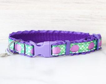 Little mermaid dog collar, Mermaid dog collar, Ariel , Mermaid cat collar, Little mermaid, Disney princess, Disney Dog collar, Disney cat,