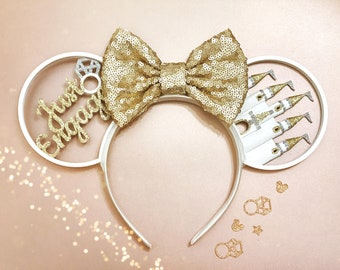 Just Engaged Castle Mouse Ears Headband