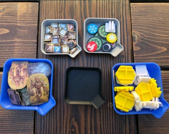 Stackable Board Game Token Trays - Meeple Bowls  - Small Bead Trays