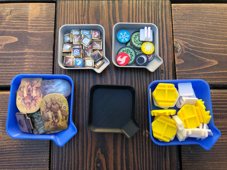 Stackable Board Game Token Trays  Meeple Bowls   Small Bead image 1