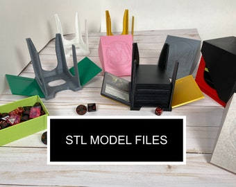 STL Model Files - MTG Commander V2 - 4-in-1 Draw and Discard Playing Card Holder Deck Box Dice Tray - Magic The Gathering EDH
