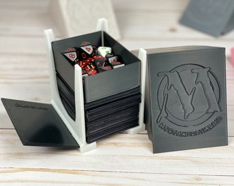 MTG Commander V2 - 4-in-1 Draw and Discard Playing Card Holder Deck Box Dice Tray - 71mmx100mmx100mm - Magic The Gathering EDH