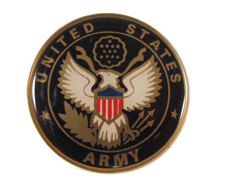 USA US ARMY 2 epoxy domed logo car emblem sticker new