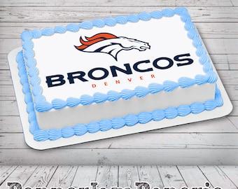 Fantastic Broncos Cupcake Etsy Birthday Cards Printable Trancafe Filternl