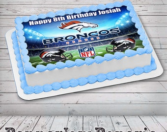 Excellent Bronco Cake Topper Etsy Birthday Cards Printable Trancafe Filternl