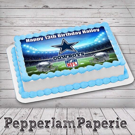 Incredible Dallas Cowboys Edible Cake Image Frosting Sheet Sugar Sheet Etsy Personalised Birthday Cards Paralily Jamesorg