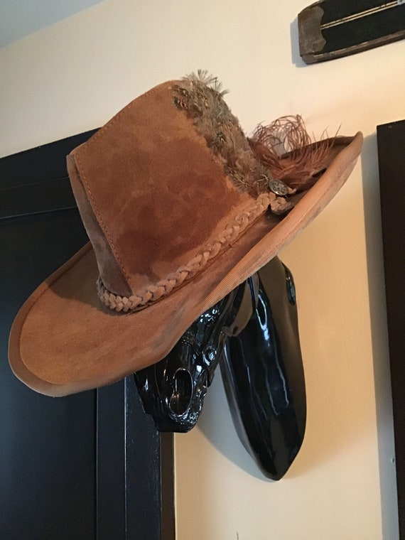 Large cowboy hat/ suede hat/western hat/ hat with