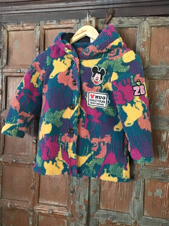 Mickey Mouse coat/ girls fuzzy jacket/Disney coat