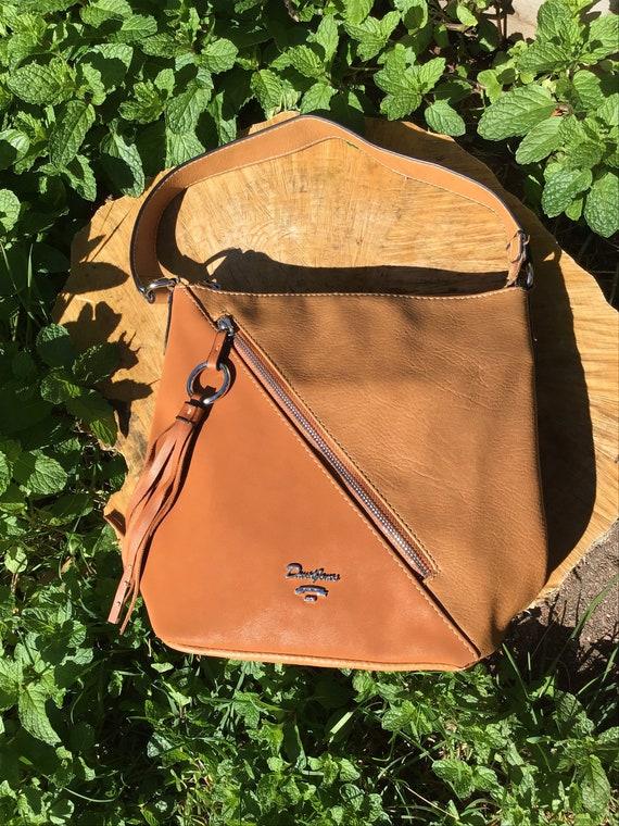 David Jones bag/vintage tote/ shoulder bag/vegan l