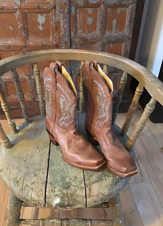 Vintage Nocona cowboy boots/size 10 ladies/vintage
