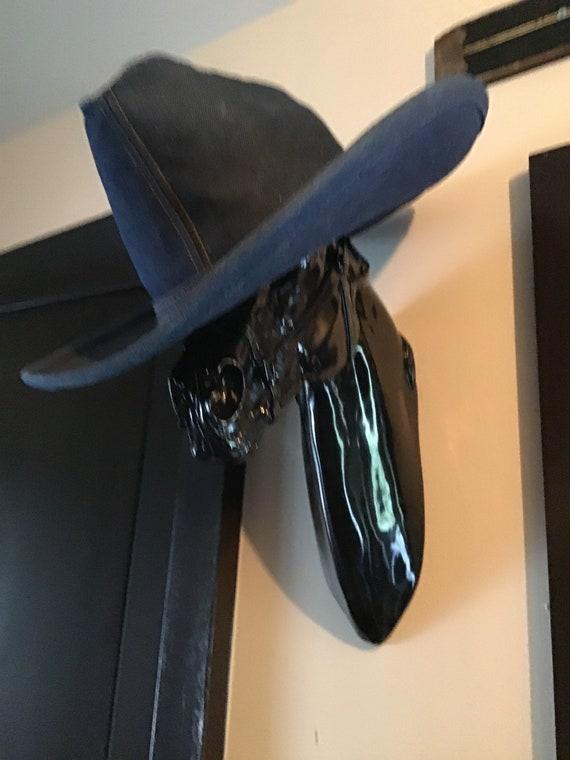 Denim cowboy hat/western hat/boho/American made/ l