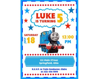 Personalized Train Invitation Digital Download