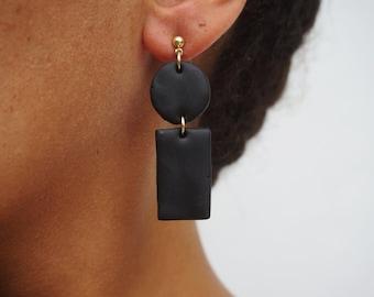 Clay Pendant Earrings