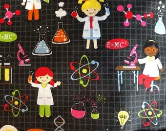 "Girl Science Ponytail Scrub Cap, Ponytail Scrub Hat, Surgical Caps, Scrub Hats ""Genevieve"", Surgical Caps"