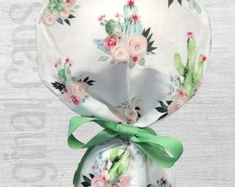 """Flowering Cacti  Bouquet Design Scrub Cap, Surgical Cap, Scrub Cap for Women """"Ana"""", Surgical Caps"""