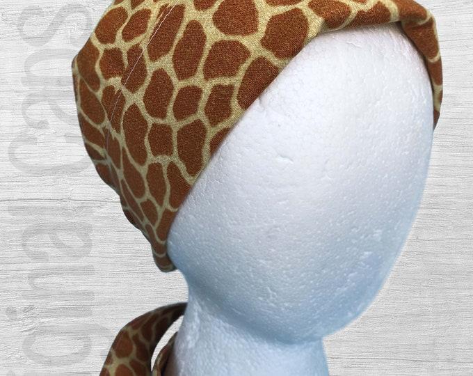 """Giraffe Print  Design Scrub Cap, Surgical Cap, Scrub Hat, scrub cap for Women, Pixie Scrub Cap, """"Ava"""""""
