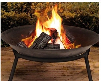 Cast Iron Outdoor Fire Pit Bowl Round Patio Fire Large Outdoor Fire Pit