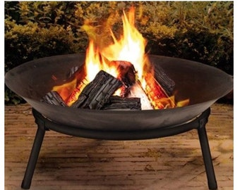 Cast Iron Outdoor Fire Pit Bowl Round Patio Fire EXTRA LARGE Outdoor Fire Pit