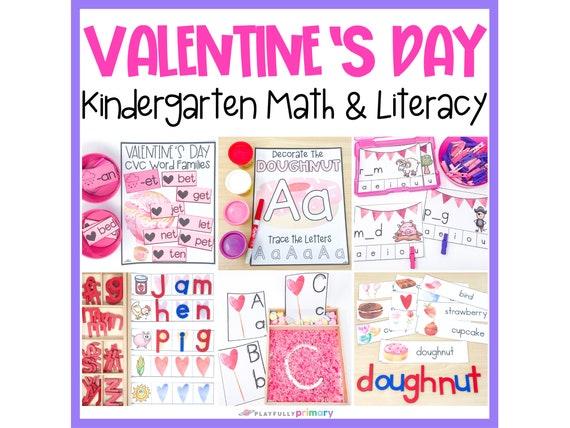 Valentine's Day Kindergarten Math & Literacy  Homeschool