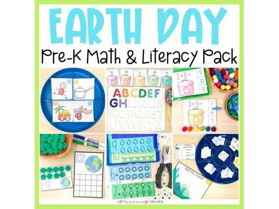 Earth Day Preschool Math & Literacy  Homeschool Preschool