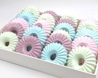 Sultan Meringue Cookies, French Meringue Cookies, Gender Reveal Cookie, Party Favor, Wedding, Baby Shower, Gluten Free, Keto - 2 DOZENS
