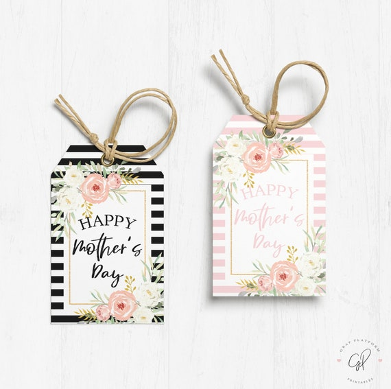 Happy Mother's Day Printable Tag Mothers Day Tag Gift Tag