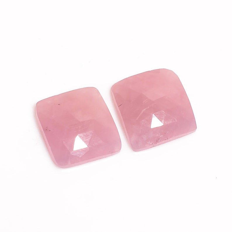 Tempting A-One Quality 100/% Natural Pink Sapphire Faceted Loose Gemstone Pair For Making Earrings 19.5 Ct 14X14X4 mm R-799