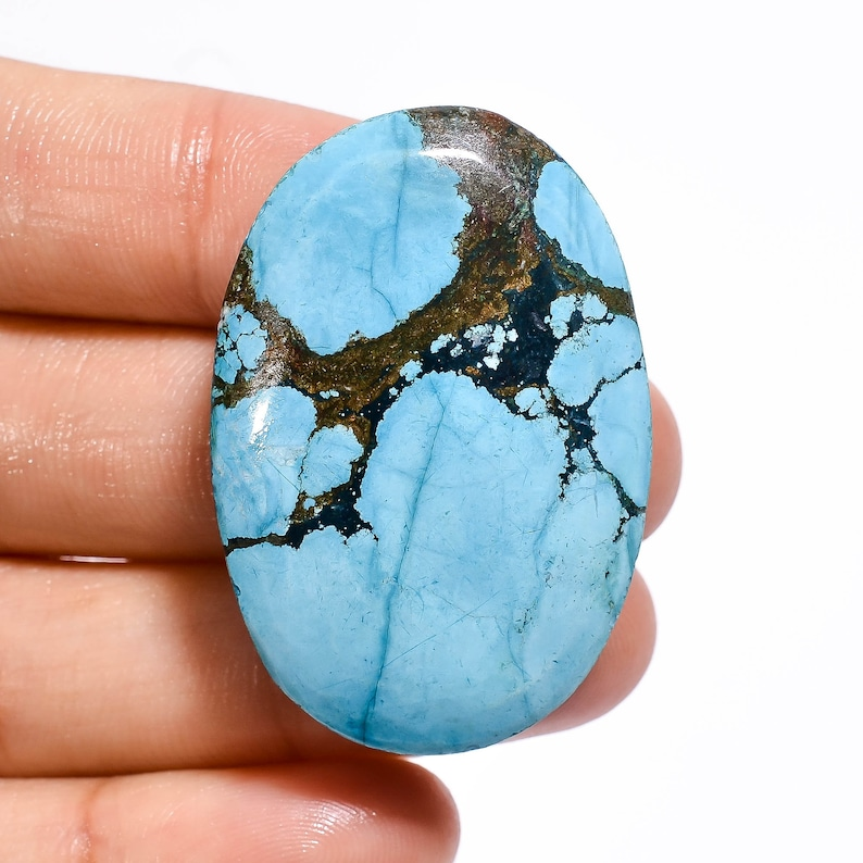 80.5 Ct Amazing Top Grade Quality 100/% Natural Tibetan Turquoise Oval Shape Cabochon Loose Gemstone For Making Jewelry 39X26X9 mm R-4401