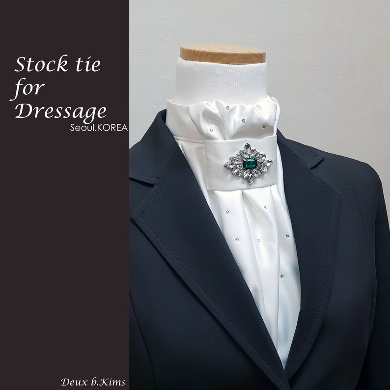 A stock tie for dressage