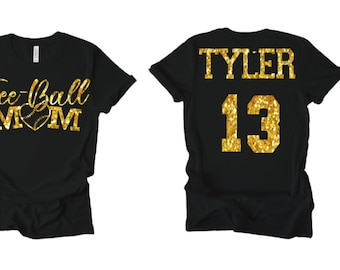Custom made bling Name and Number Shirt buying required