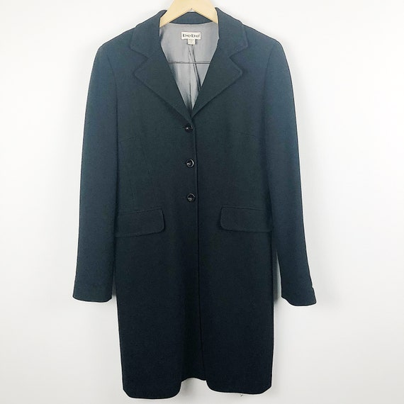 Vintage 1980s Bebe black trench coat