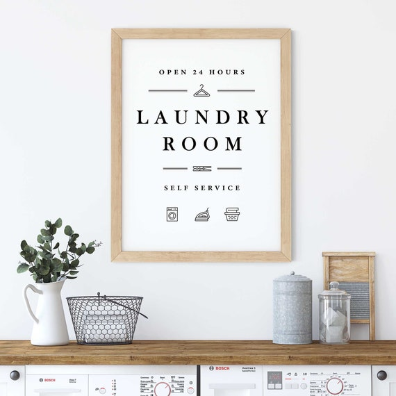 Laundry Sign Laundry Printable Art Laundry Print Laundry Etsy