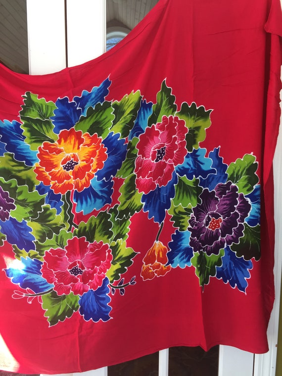 Vintage Sarong Tropical Beach Wear Coverup - image 2