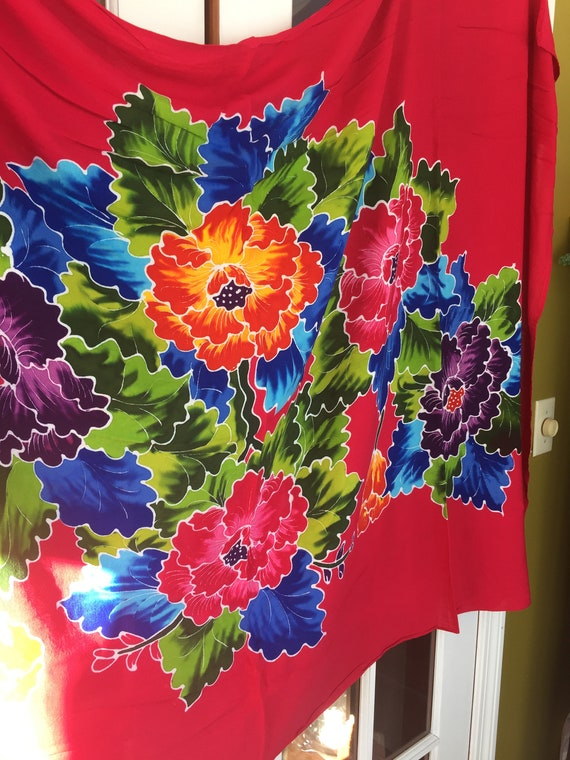 Vintage Sarong Tropical Beach Wear Coverup - image 1