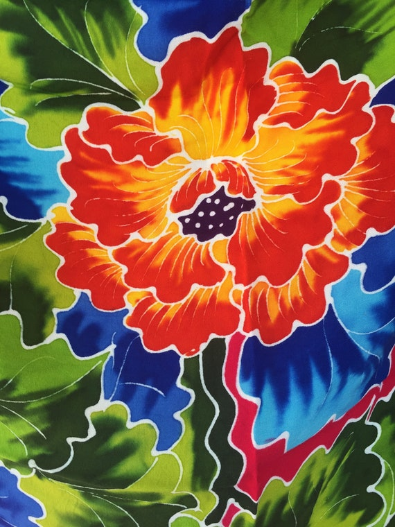 Vintage Sarong Tropical Beach Wear Coverup - image 3