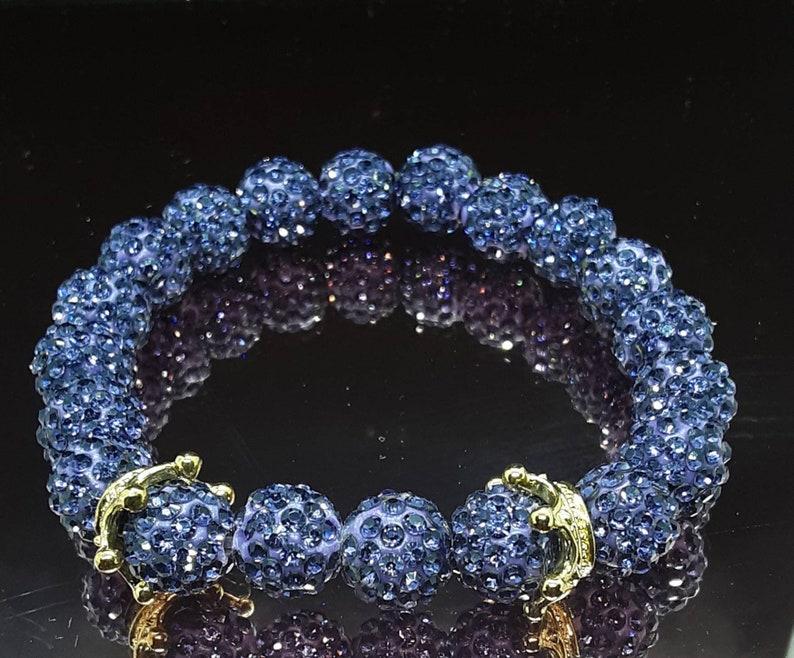 Handmade purple bracelet