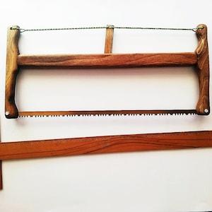Oak Folding Wooden Bucksaw with a case