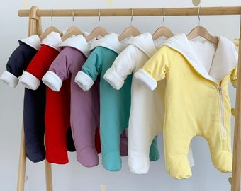Gender neutral baby clothes winter Baby boy clothes Baby girl clothes Winter overalls Infant girl clothes Newborn boy outfit Newborn girl
