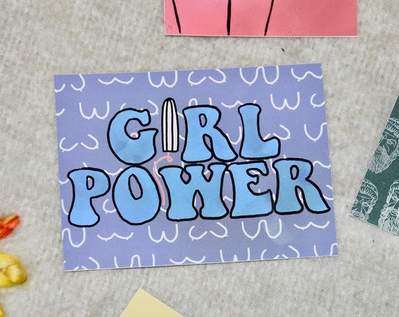 Girl Power with Boobs & Tampon Sticker Stickers
