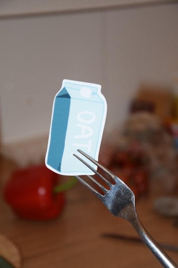Oat Milk Sticker   Vegan Stickers