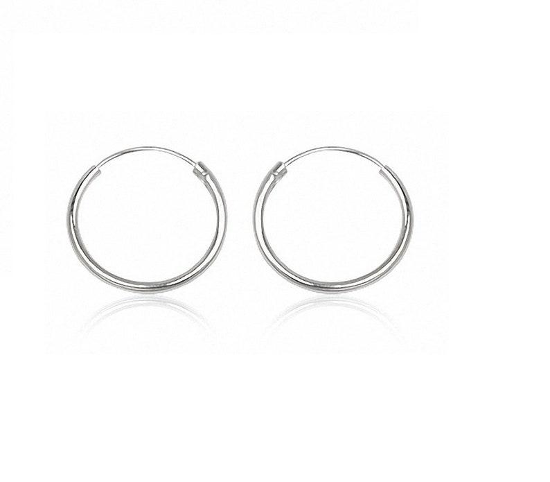 Silver Hoop Earrings 925 Bride Jewelry Girl Gift Silver Earrings 2cm Silver Earrings Women/'s Earrings