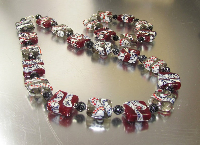 Handmade Lampwork Necklace Bracelet and Earring and Set